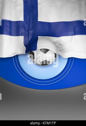 Flag Finland render, Finnish Flag (3D Render) - Stock Photo
