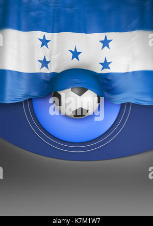 Flag Honduras render, Honduran Flag (3D Render) - Stock Photo