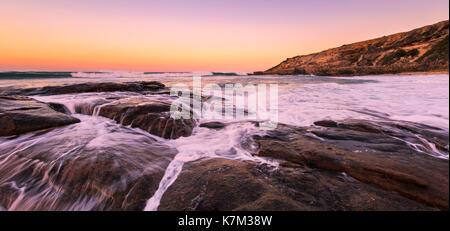 Sunrise at Prevelly Beach. Margaret River, Western Australia - Stock Photo