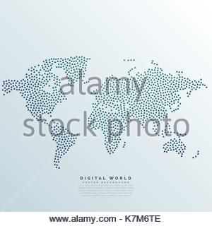 3d world map with dots vector background stock photo 78543019 alamy repeating abstract dots world map made with dots stock photo gumiabroncs Choice Image