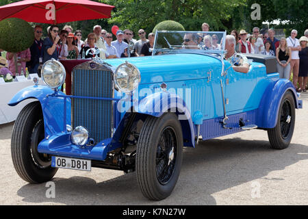 Delage D 8 SS, French luxury convertible from 1931, vintage car meeting, Classic Days Schloss Dyck, Jüchen - Stock Photo