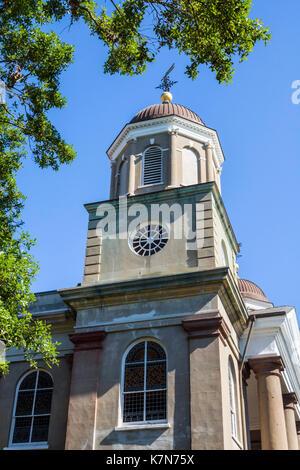 Charleston South Carolina SC Historic Downtown First Scots Presbyterian Church exterior - Stock Photo