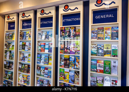 Myrtle Beach South Carolina SC Visitors Center attractions brochures display free information pamphlets - Stock Photo