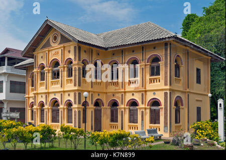 Classic colonial-style building, home to Edouard Namlap Foundation, located inside Saint Anna Nong Saeng Catholic - Stock Photo