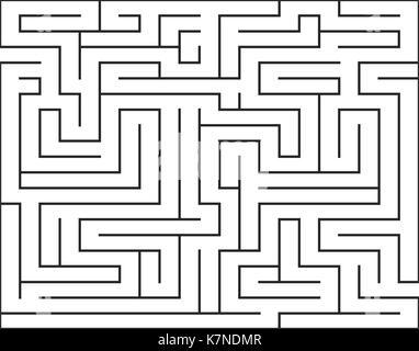 maze, labirynth vector symbol icon design. Beautiful illustration isolated on white background - Stock Photo