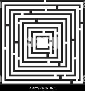 square maze, labirynth vector symbol icon design. Beautiful illustration isolated on white background - Stock Photo
