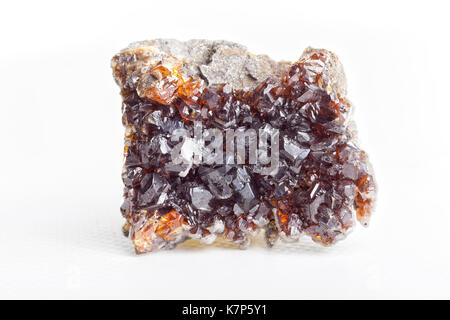 Sphalerite on white background. - Stock Photo