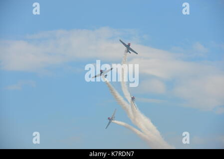 Joint Base Andrews, USA. 16th Sep, 2017. GEICO Skytypers Airshow Team performs aerobatics during an air show celebrating - Stock Photo