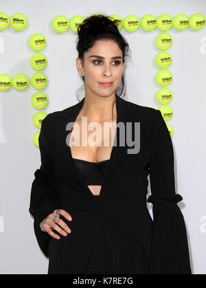 Los Angeles, CA, USA. 16th Sep, 2017. 16 September 2017 - Beverly Hills, California - Sarah Silverman. 'Battle Of - Stock Photo