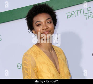 Los Angeles, CA, USA. 16th Sep, 2017. 16 September 2017 - Beverly Hills, California - Imani Boyette. 'Battle Of - Stock Photo
