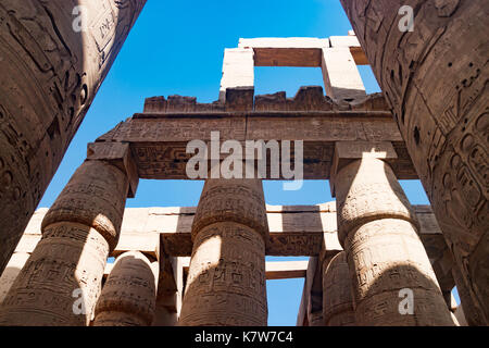The ancient temple of Hatshepsut in Luxor, Egypt - Stock Photo
