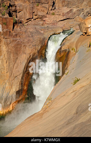 Main waterfall of the Augrabies Falls National Park, South Africa - Stock Photo