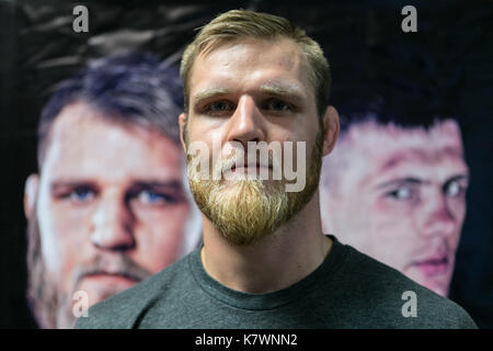 Mixed Martial Artist Marcus Vänttinen at M-1 Challenge 82 Weigh in. - Stock Photo
