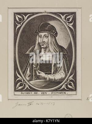 Jacobite broadside   James IV (1473  1513) King of Scots - Stock Photo