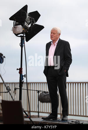 Former Liberal Democrats leader Paddy Ashdown is interviewed by the BBC's Sunday Politics on the second day of the - Stock Photo