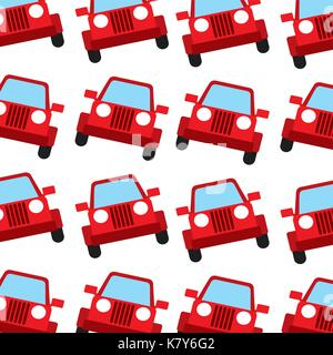 jeep car travel transport seamless pattern image - Stock Photo
