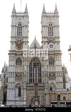 Westminster Abbey Western facade - Stock Photo