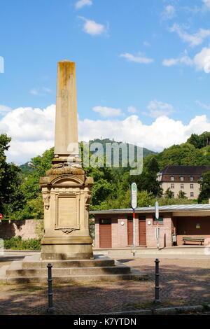 Obelisk, Kriegsdenkmal Baden-Baden Lichtental, am Klosterplatz - Stock Photo