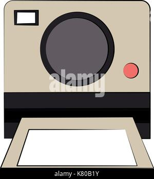 instant camera frontview icon image  - Stock Photo