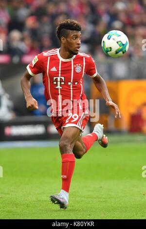 Muenchen, Deutschland. 16th Sep, 2017. Kingsley COMAN (FC Bayern Munich), Aktion, Einzelaktion, Einzelbild, Freisteller, - Stock Photo