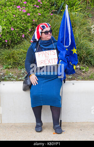 Bournemouth, Dorset, UK. 17th Sep, 2017. Stop Brexit Demonstration takes place to coincide with the Liberal Democrats - Stock Photo