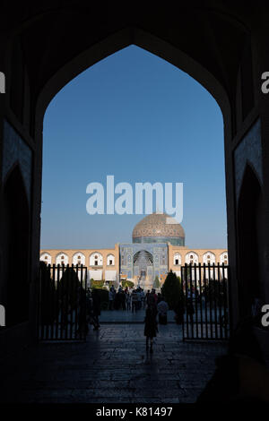 Isfahan, Iran. 17th Sep, 2017. Tourists visit the Meidan Emam in Isfahan, the third largest city of Iran, on Sept. - Stock Photo