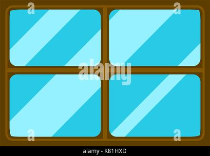 Window cartoon vector symbol icon design. Beautiful illustration isolated on white background - Stock Photo