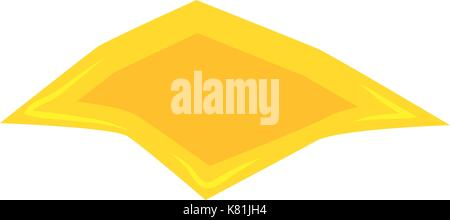 cheese slice for hamburger vector symbol icon design. Beautiful illustration isolated on white background - Stock Photo