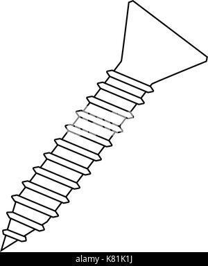 screw silhouette vector symbol icon design. Beautiful illustration isolated on white background - Stock Photo