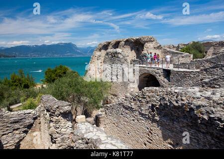 Grotte di Catullo Roman villa archeological site on Sirmione, Lake Garda, Italy