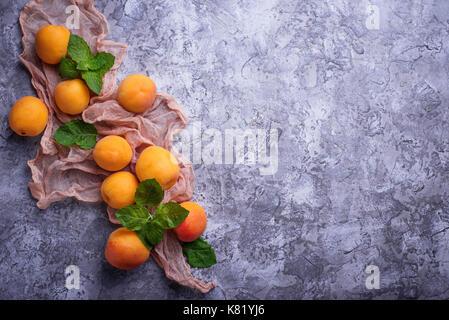 Sweet juicy apricots - Stock Photo