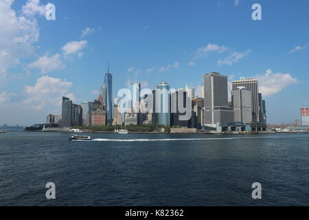 Photo of New York City Sky Line taken from the South Mid-Day - Stock Photo