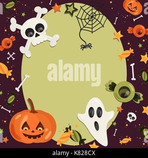 halloween celebration icon template stock vector art illustration