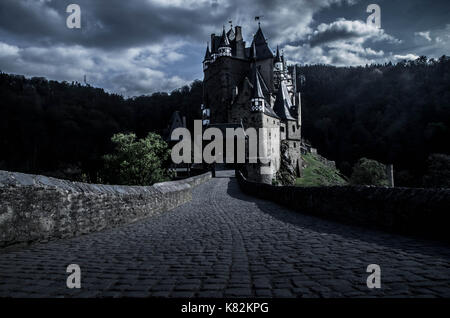Wierschem, Germany - April 13 2017 - Burg Eltz castle in Wierschem, Germany. - Stock Photo