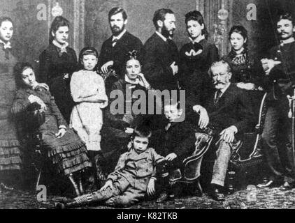 sigmund freud family, 1876 - Stock Photo