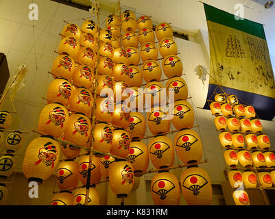 Akita, Japan - May 17, 2017. Kanto Lanterns at traditional art museum in Akita, Japan. Akita Kanto Festival Important - Stock Photo