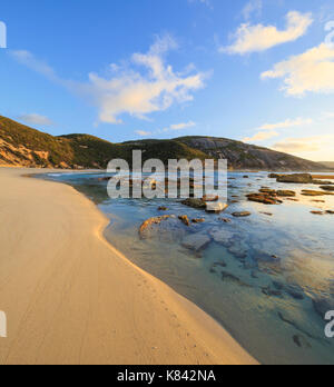 Sunrise at Salmon Holes in Torndirrup National Park - Stock Photo