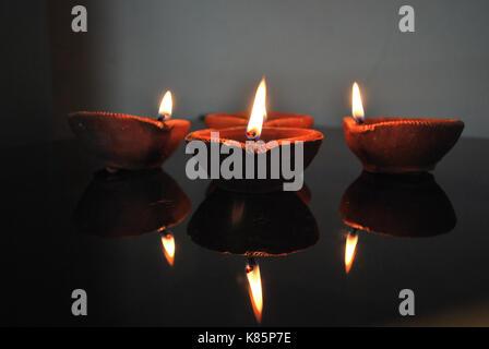Diwali Diya - Stock Photo