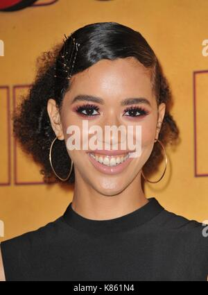 Los Angeles, USA. 17th Sep, 2017. Jasmin Savoy Brown at arrivals for HBO Emmy After Party, The Pacific Design Center, - Stock Photo