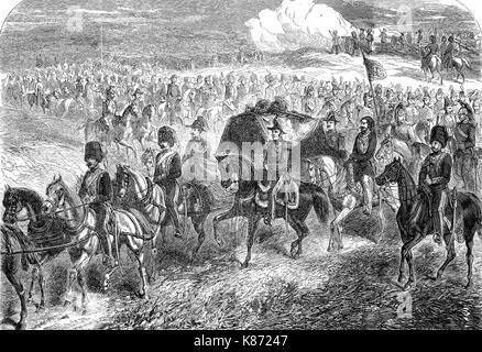 Crimean War 1853 - 1856, the burial of Field Marshal FitzRoy James Henry Somerset, 1st Baron Raglan, England, Sewastopol, - Stock Photo