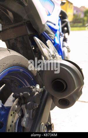 Part of modern motorcycle. - Stock Photo