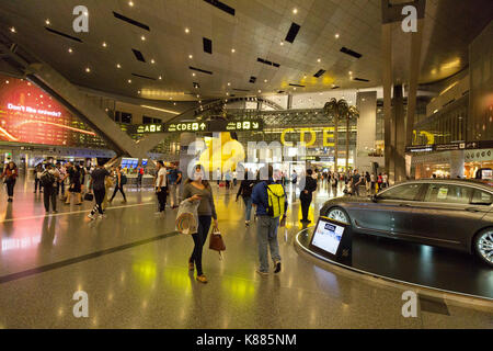 Terminal Interior, Hamad International Airport, Doha, Qatar, Middle East - Stock Photo