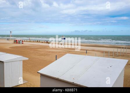BEACH OF MALO LES BAINS  DUNKERQUE, PAS-DE-CALAIS, HAUTS DE FRANCE - Stock Photo