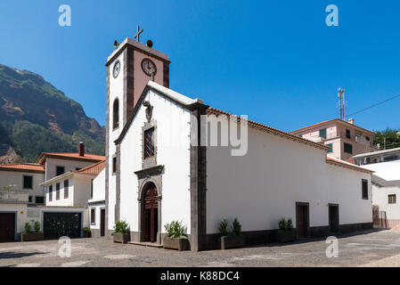 Church of Curral das Freiras, on the island of Madeira, Portugal - Stock Photo