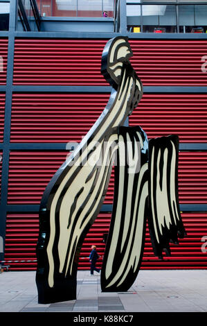 Modern sculpture. Museo Nacional Centro Reina Sofía, Madrid, Spain. - Stock Photo