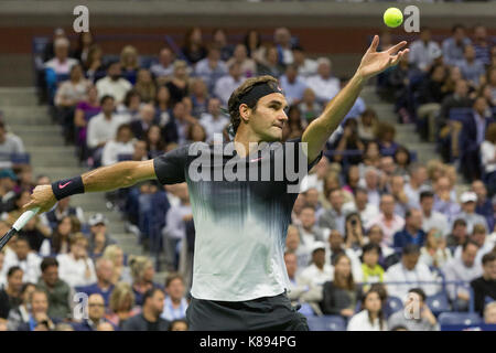 Roger Federer (SWI) competing at the 2017 US Open Tennis Championships - Stock Photo