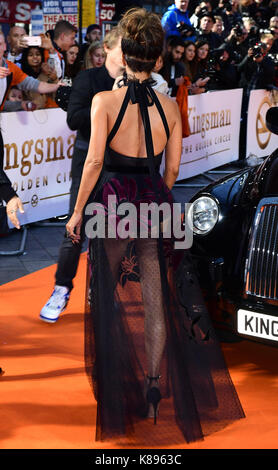attending the World Premiere of Kingsman: The Golden Circle, at Cineworld in Leicester Square, London. Picture Date: - Stock Photo