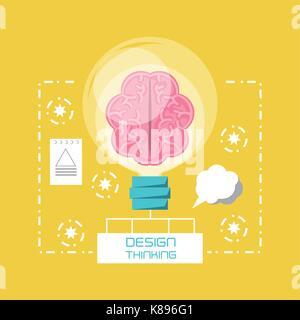 design thinking concept - Stock Photo