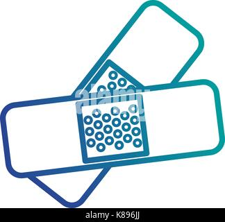 cure bandages isolated icon vector illustration design - Stock Photo