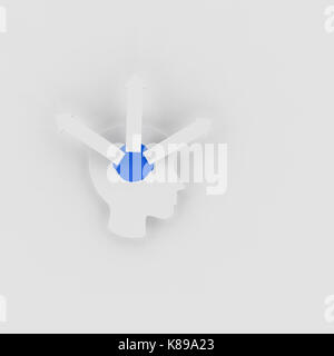 3d rendering of human head with  idea coming out concept - Stock Photo